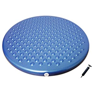AppleRound Jr. Inflatable Seat Cushion with Pump, 31cm/12in Diameter, Sensory Wiggle Seat for Kids (Blue)