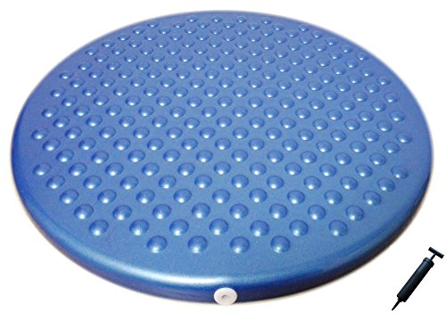 AppleRound Jr. Inflatable Seat Cushion with Pump, 31cm/12in Diameter for Kids, Blue