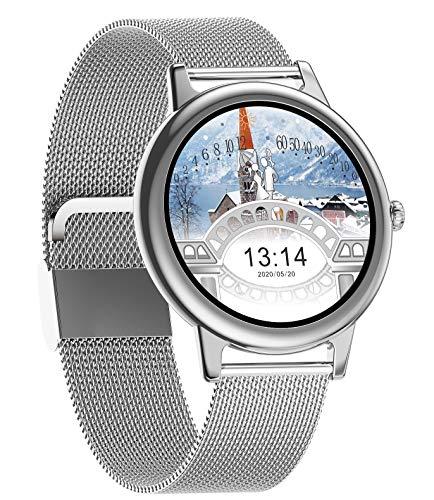 Fashion Smartwatches voor dames, fitnesshorloge met hartslag, slaapmonitor, bloeddrukmeter, maandweergave, volledig…