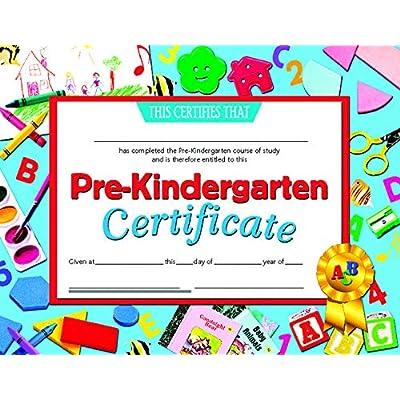 "Hayes 078300 Pre-Kindergarten Certificate, 8-1/2"" x 11"" Size, Paper: Toys & Games"