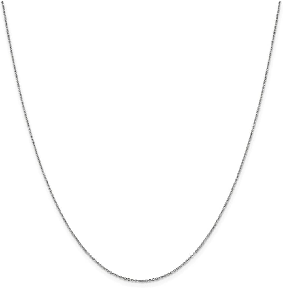 Leslies Real 14kt White Gold 1.1 mm Flat Cable; 20 inch