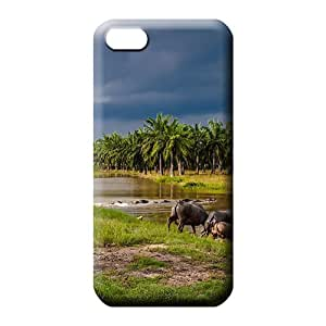 iphone 5c phone back shells Unique covers protection High Quality water buffalos entering a river in southeast asia