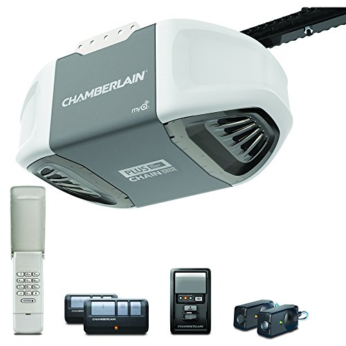 Chamberlain Group Chamberlain C610C Garage Door Opener with Plus Lifting Power, 3/4 HP, Pewter