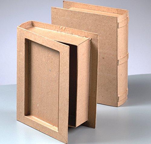 Paper Mache Book Box to Decorate 18x14.5x4.5cm | Papier Mache -