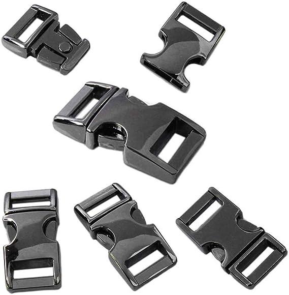 Dcolor 10pcs Zinc Alloy Buckle Adjustable Clip 5mm Survival Bracelet Paracord