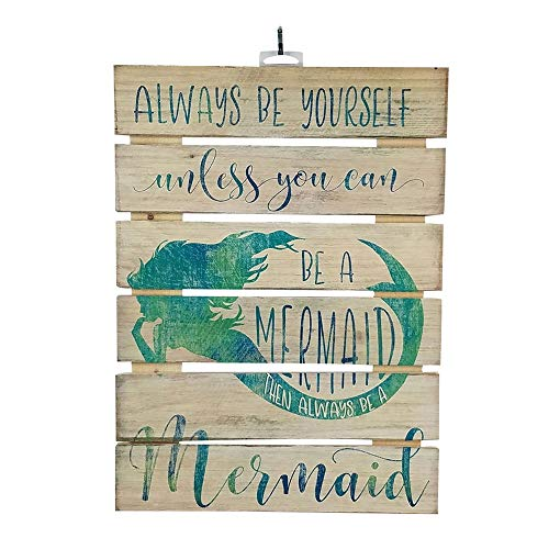 (Imprints Plus Forever A Mermaid Inspirational Reclaimed Wood Sign, 12