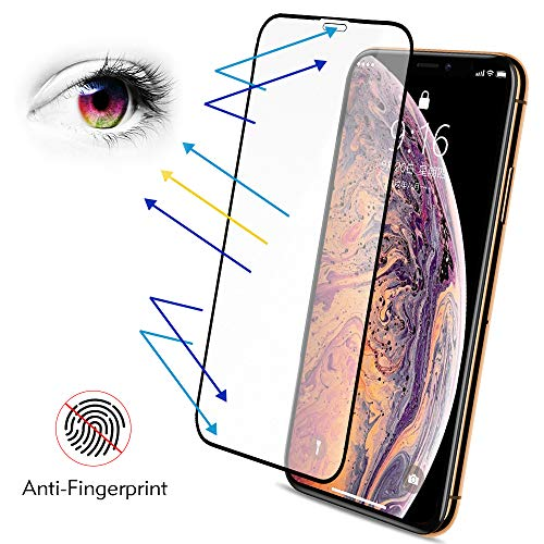 iPhone Xs X Matte Screen Protector Tempered Glass, Benks Anti-Glare Anti-Fingerprint Proof Protective Film with Full Coverage Screen Protector for iPhone Xs iPhone X 10, 5.8-Inch