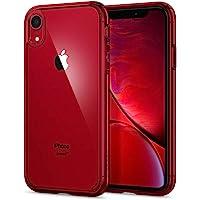 Spigen Coque iPhone XR [Ultra Hybrid] Bumper Renforcé, Protection Coin, Air Cushion, Anti-Choc [Rouge] Coque Etui Housse pour iPhone XR (6.1 Pouces) (2018) (064CS25346)
