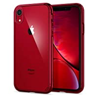 Spigen Ultra Hybrid with Air Cushion Technology and Hybrid Drop Protection Designed for Apple iPhone XR Case (2018) - Red