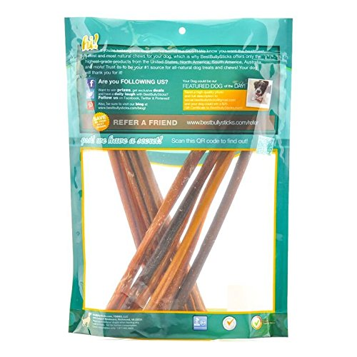 premium thin and thick bully sticks by best bully sticks amazon. Black Bedroom Furniture Sets. Home Design Ideas