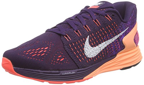 NikeLunarGlide 7 - Zapatillas de Running Mujer Morado - Violett (Grand Purple/White-Sunset Glow)