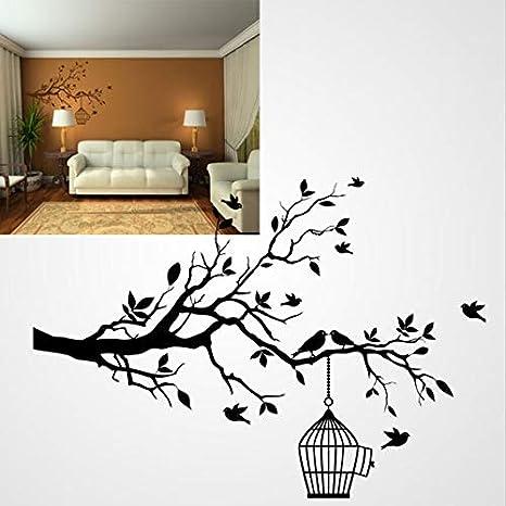 Pochoir en PVC r/éutilisable 70 x 100 cm Birds in Cage Pochoir r/éutilisable A3 A4 A5 et plus grandes tailles Arbre danimaux Moderne//oiseau 54 27.6 x 39.4 in S size