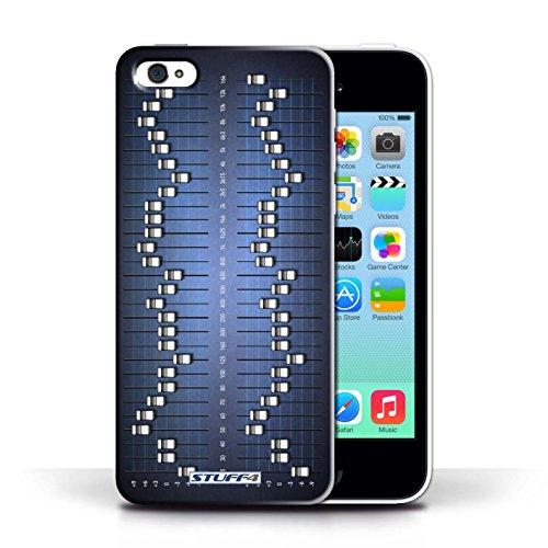 Kobalt® Imprimé Etui / Coque pour Apple iPhone 5C / Égaliseur Graphique conception / Série Retro Tech
