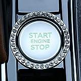 LivTee 2 PCS Crystal Rhinestone Car Engine Start