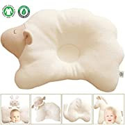 Organic Cotton Baby Protective Pillow - Cloud Lamb