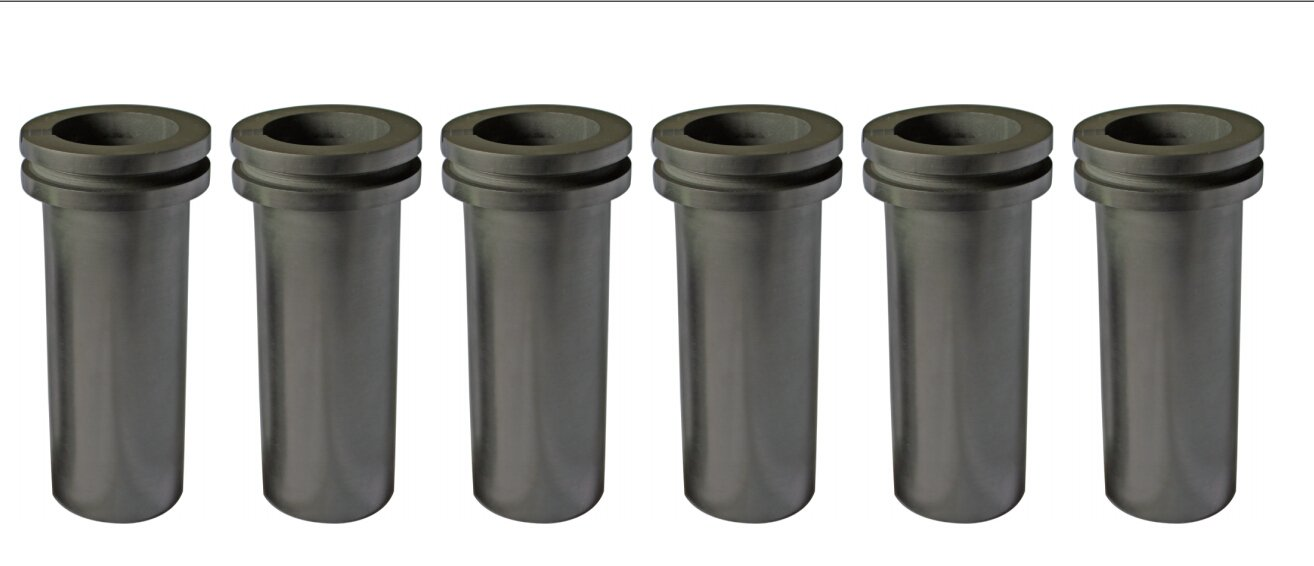 6 PCS Package graphite melting crucible for 1 kilo electrical furance