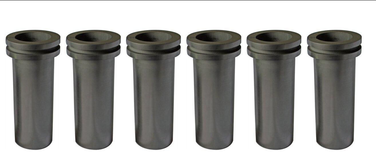 6 PCS Package graphite melting crucible for 2kg gold melting furance