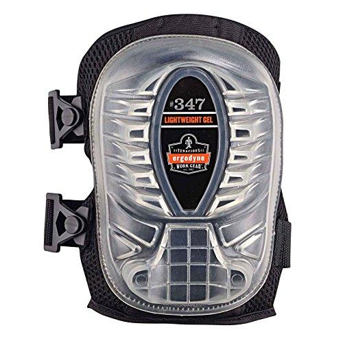Pads Knee Proflex Gel (Ergodyne - 347 Black Long Cap Lightweight Gel Knee Pad)