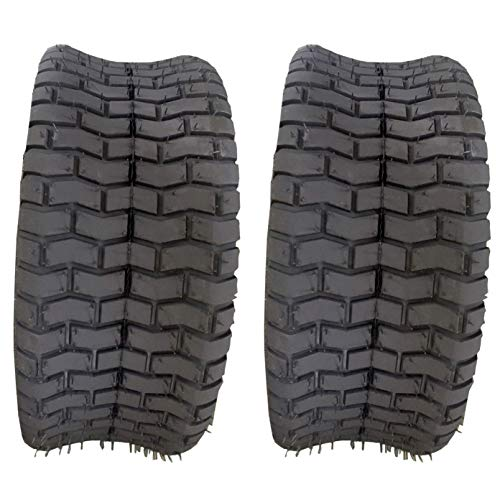 SUNROAD 2PCS 16x6.50-8 Turf Tires 4Ply Tubeless for Garden Tractor Lawn Mower