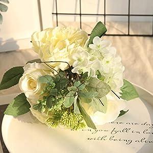 ZTTONE Wedding Bouquet, Multicolor Phantom Rose Peony TOP Silk Flowers Bouquet Single Decor Wedding 39