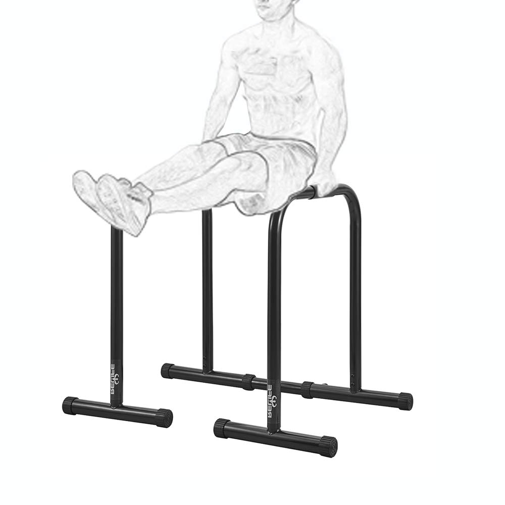RELIFE REBUILD YOUR LIFE Dip Station Functional Heavy Duty Dip Stands Fitness Workout Dip bar Station Stabilizer Parallette Push Up Stand (Black) by RELIFE REBUILD YOUR LIFE (Image #8)