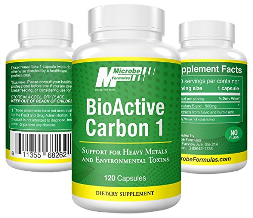Dietary Supplement- Microbe Formulas: BioActive Carbon 1 - 120 Capsules - High Quality Ingredients, Support Against Heavy Metals & Environmental Toxins, Helps Heal Your GI System by Microbe Formulas