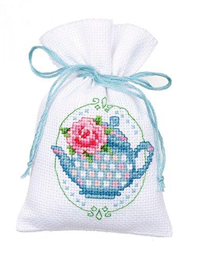 Vervaco Counted Cross Stitch Kit Pot Pourri Bag Teapot