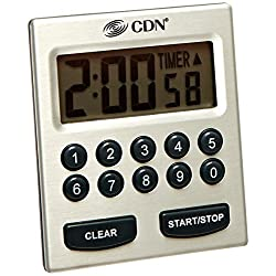 CDN TM30 Direct Entry 2-Alarm Timer-Alarm Sounds or Vibrates - 1 count