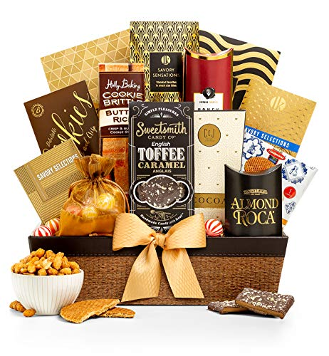 GiftTree Encore Gourmet Gift Basket | Assortments of Popcorn, Almond Roca, Honey Roasted Peanuts, Cookies & More | Perfect Present for Birthdays, Thank You, Business and Holidays ()