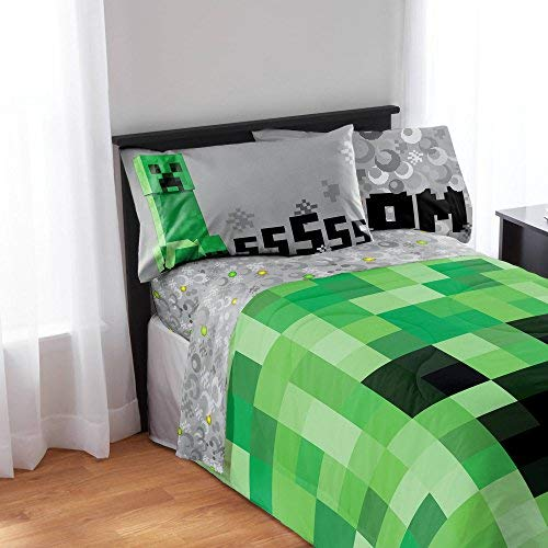 Minecraft 4-Piece Microfiber Sheet Set - Full
