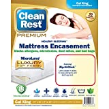 Bed Larger Than California King Clean Rest Premium Water-Resistant, Allergy and Bed Bug Blocking Mattress Encasement, California King