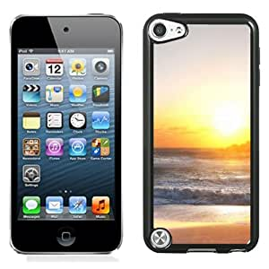 New Beautiful Custom Designed Cover Case For iPod 5 With Rough Sea Beach Shining Sun Phone Case