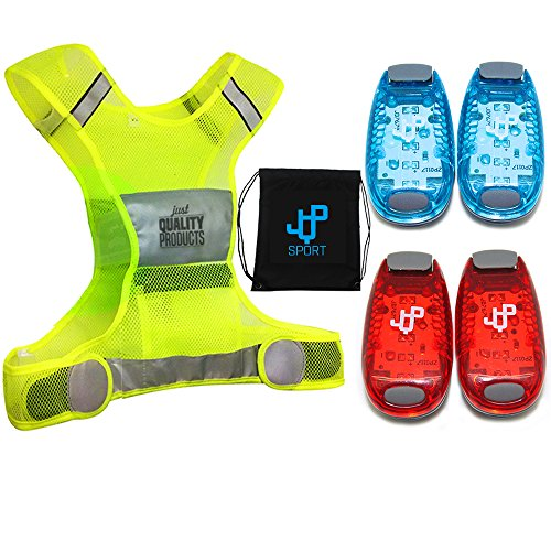 LED Safety Light and Reflective Vest Sets