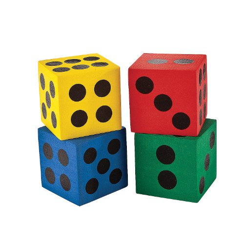 Foam Jumbo Playing Dice (12) (Jumbo Dice)