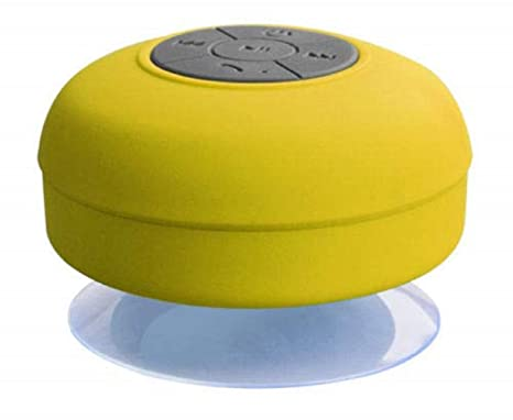 Wireless Portable Bluetooth Stereo FM Speaker for Mobile Phone Tablet PC Laptop  Yellow  Speakers