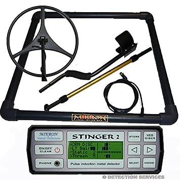 Stinger 2 metal detector profesional de impulsos para grandes Profundidad mikron: Amazon.es: Jardín