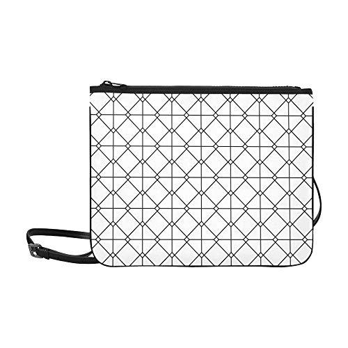 - Vintage Euro Sham Mesh Italian Wrought Iron Gate Pattern Custom High-grade Nylon Slim Clutch Bag Cross-body Bag Shoulder Bag
