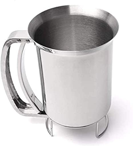 New Stainless Steel Batter Dispenser Cream Funnel Cupcake Waffle Pastry Tool