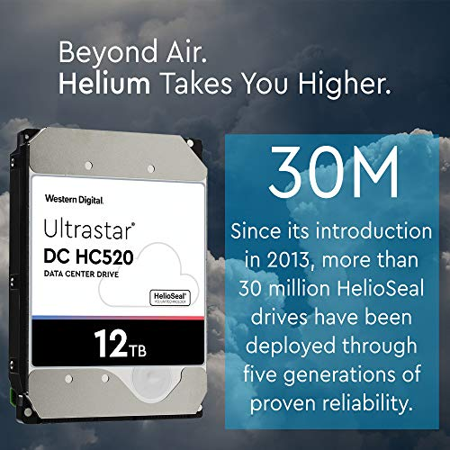 HGST - WD Ultrastar DC HC520 HDD | HUH721212ALE600 | 12TB 7.2K SATA 6Gb/s 256MB Cache 3.5-Inch | ISE 512e | 0F30144 | Helium Data Center Internal Hard Disk Drive by HGST (Image #3)