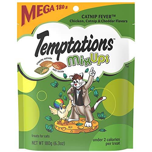 Temptations Mixups Cat Treats Catnip Fever Flavor, (10) 6.3 Oz. Pouches