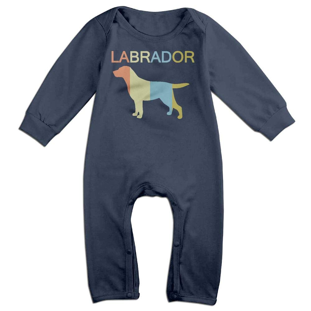 Mri-le1 Newborn Baby Organic Coverall Labrador Vintage Toddler Jumpsuit