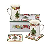 Spode Christmas Tree 5 Piece Tin Set