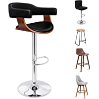 ALFORDSON Gas Lift Bar Stools Wooden Kitchen Dining Counter Chair with Footrest and Rubber Floor Protector
