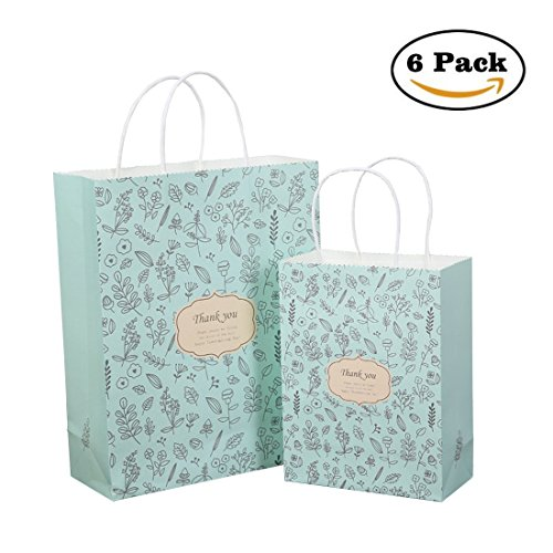 Gift Bags Kraft Paper Present Exchange Wrapping Packaging Treat Bags 6.7