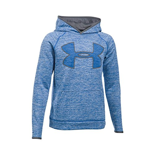 Under Armour Boys' Storm Armour Fleece Twist Highlight Hoodie, Ultra Blue/Graphite, Youth X-Large