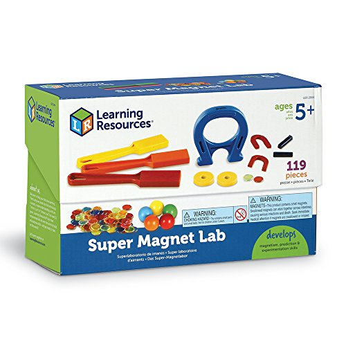 Super Magnet Kit - Learning Resources Super Magnet Lab Kit, 119 Pieces