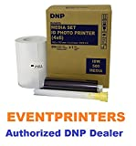 DNP IDW500 ID Printer Media, Paper & Ribbon kit. Total of 350 Prints size 4x6''. EVENTPRINTERS IS THE AUTHORIZED DNP DEALER!