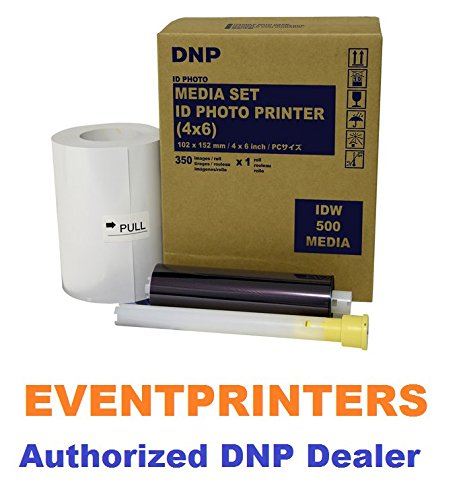 DNP IDW500 ID Printer Media, Paper & Ribbon kit. Total of 350 Prints size 4x6''. EVENTPRINTERS IS THE AUTHORIZED DNP DEALER! by DNP