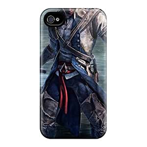 Iphone 4/4s CTP12737DAra Customized High-definition Assassins Creed Iii Skin Durable Hard Cell-phone Cases -MansourMurray