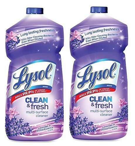 Lysol Clean & Fresh Multi-Surface Cleaner, Lavender & Orchid Essence Scent 2 Pack (48 oz, Pack of 2)